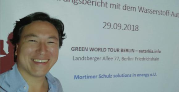 hydrochan green world tour autarkia berlin erfahrungsbericht mit dem wasserstoffauto presentation