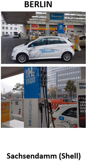 hydrochan green world tour autarkia berlin erfahrungsbericht mit dem wasserstoffauto presentation hydrogen refuelling station hrs berlin sachsendamm shell mercedes fcell