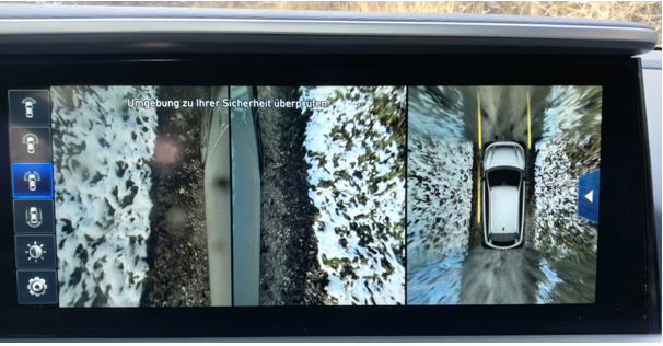 hyundai nexo mortimer hydrochan reverse gear all around surround camera 360 view snow six senses kamptal winter test
