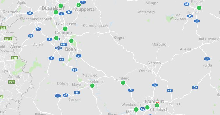 frankfurt dusseldorf h2 mobility_hydrochan_energy storage europe 2019_map