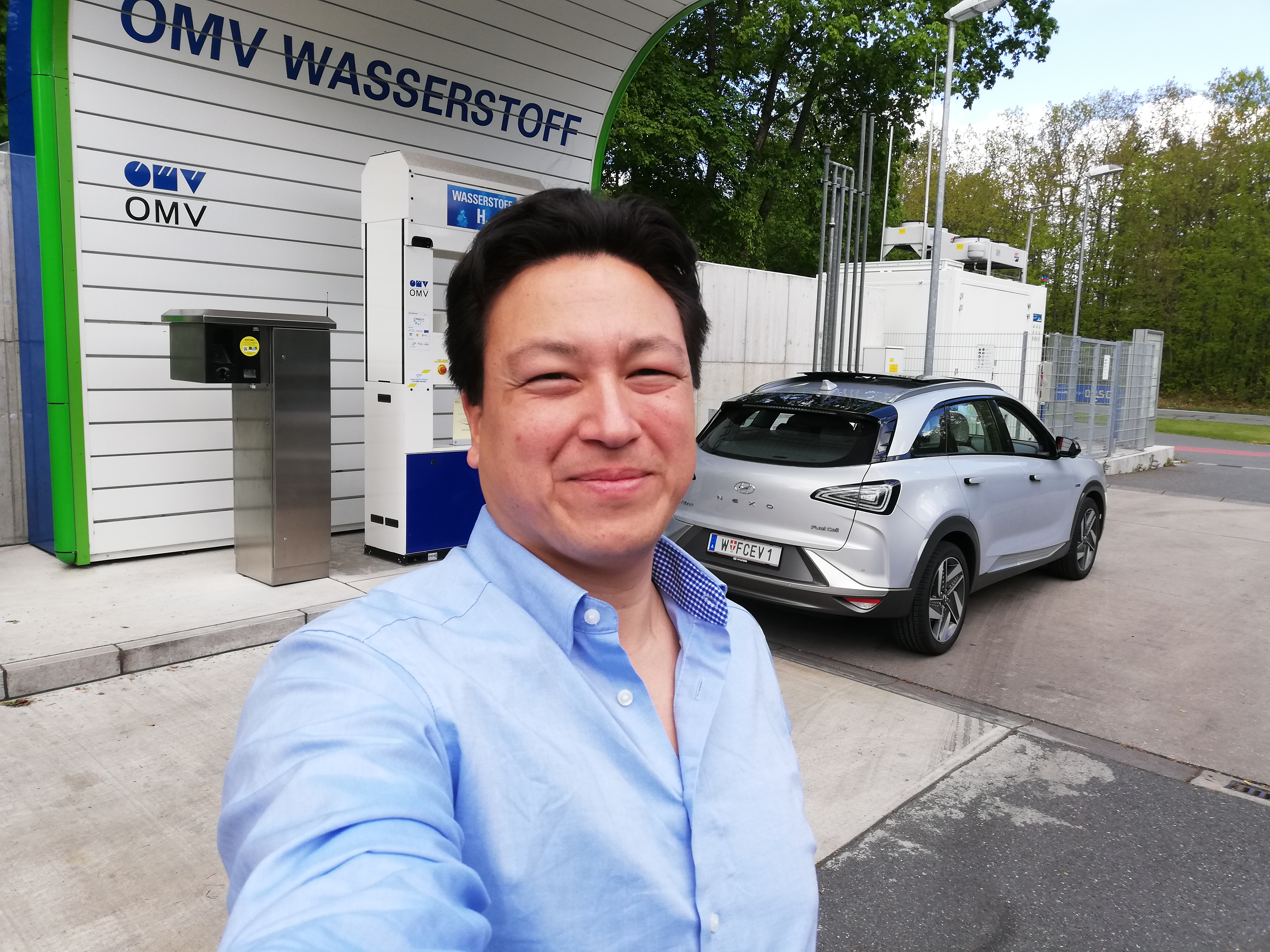 hyundai-nexo-range-test-hydrochan-Vienna-Offenbach-Innsbruck wasserstoff tankstelle nürnberg omv mortimer