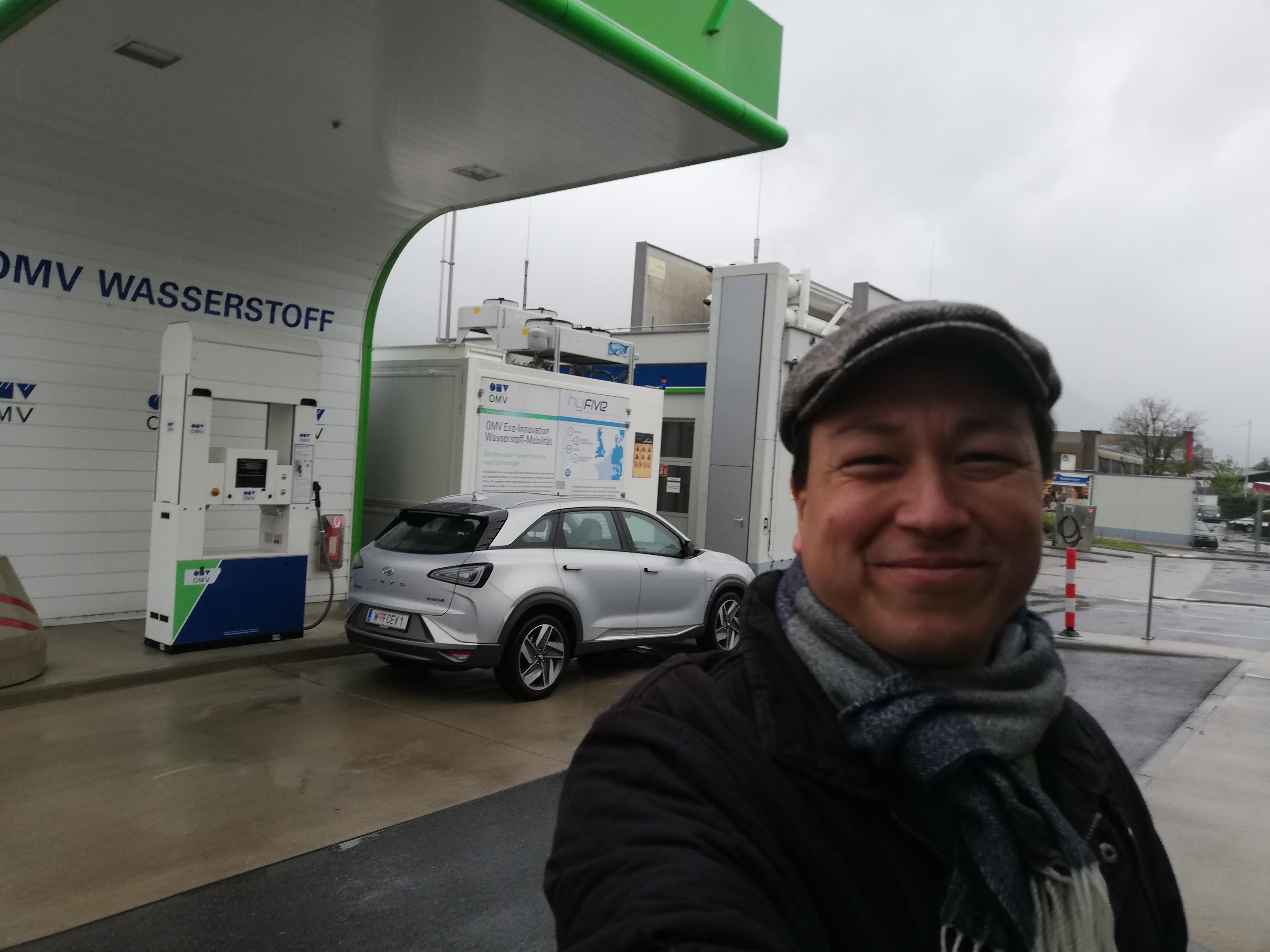 hyundai-nexo-range-test-hydrochan-Vienna-Offenbach-Innsbruck wasserstoff tankstelle omv andechsstrasse mortimer