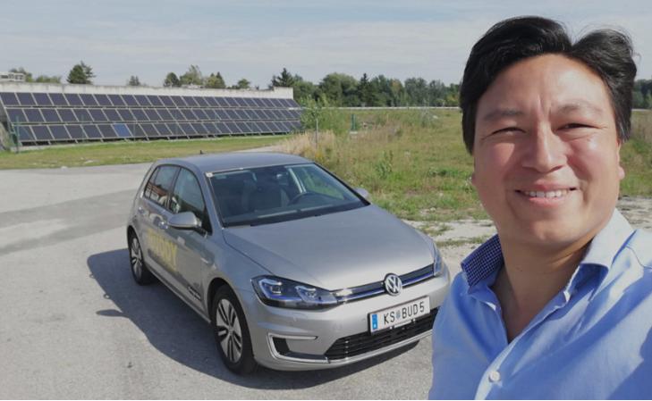 IMG_20190923_1204_vw e-golf_zweite begegnung wien_buddy carsharing birngruber_mortimer hydrochan schulz_mautern vorne photovoltaik