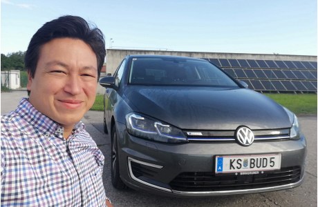 VW eGolf ID3_buddy carsharing birngruber_mortimer schulz solutions hydrochan_front view frontansicht solar photovoltaic_KS BUD5