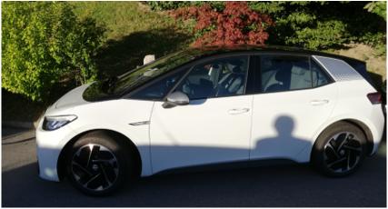 VW eGolf ID3_buddy carsharing birngruber_mortimer schulz solutions hydrochan_seitlich weiß side view white